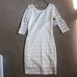 Ivory and gold dress new with tags